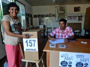votación por represas - en baja